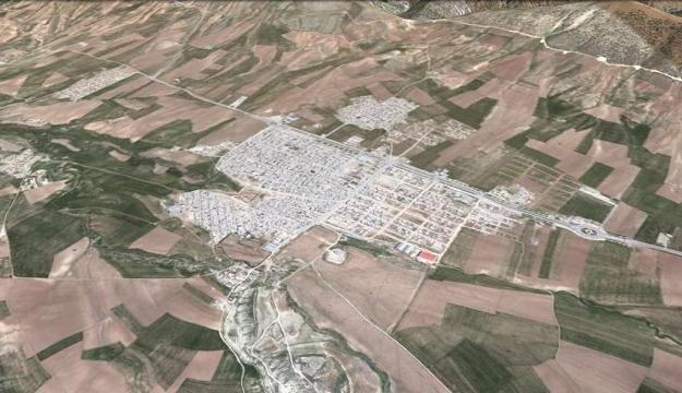 نگاره ی ماهواره ای شهر تازه آباد