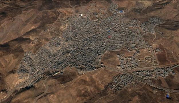 نگاره ی ماهواره ای شهر جوانرود