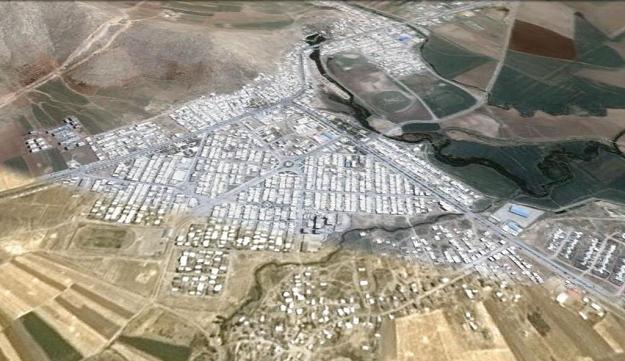 نگاره ی ماهواره ای شهر روانسر