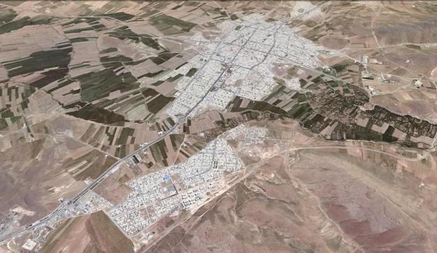 نگاره ی ماهواره ای شهر سنقر