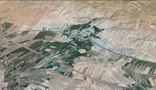 نگاره ی ماهواره ای شهر صحنه