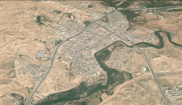 نگاره ی ماهواره ای شهر قصر شیرین