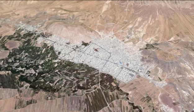 نگاره ی ماهواره ای شهر هرسین
