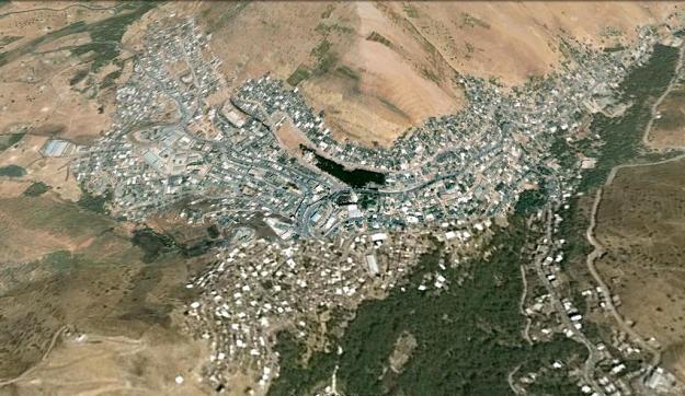 نگاره ی ماهواره ای شهر پاوه