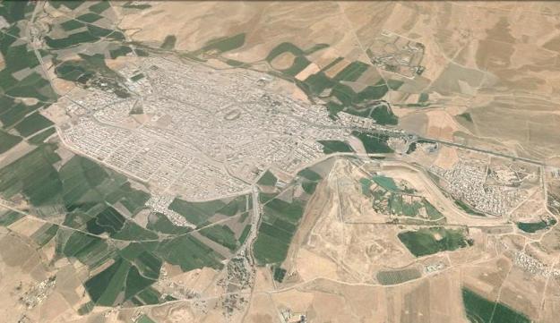 نگاره ی ماهواره ای شهر گیلانغرب