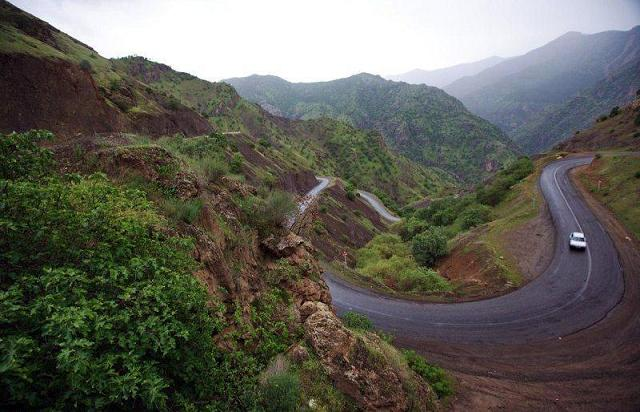 جاده های کوهستانی - شهرستان پاوه