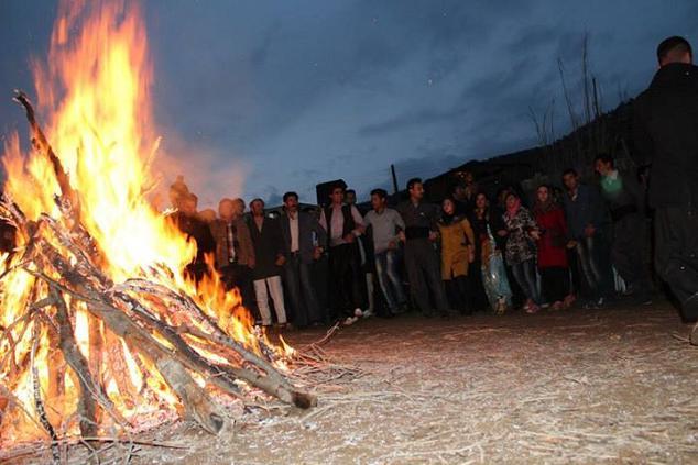 نوروز در روستای باین در منطقه ی ماهیدشت کرمانشاه