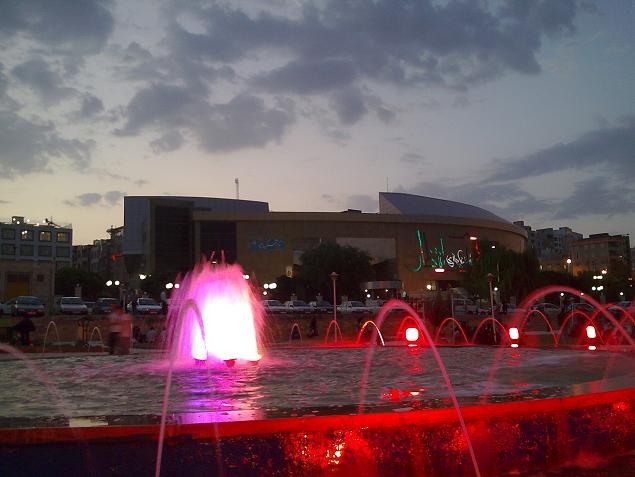 محوطه ی تالار انتظار ، میدان آزادگان - شهر کرمانشاه