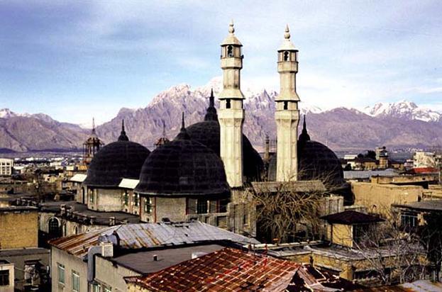نمایی از مسجد شافعی ها در شهر کرمانشاه