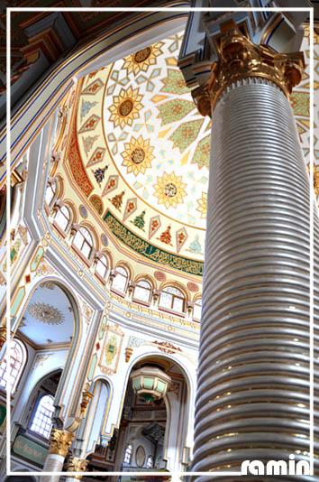 نمایی از درون مسجد شافعی ها در شهر کرمانشاه