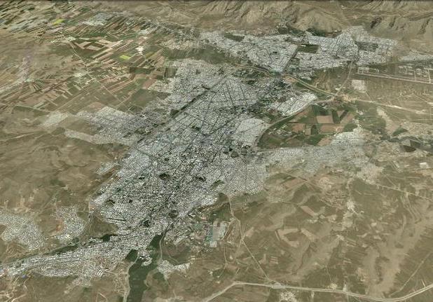 نگاره ی ماهواره ای شهر کرمانشاه