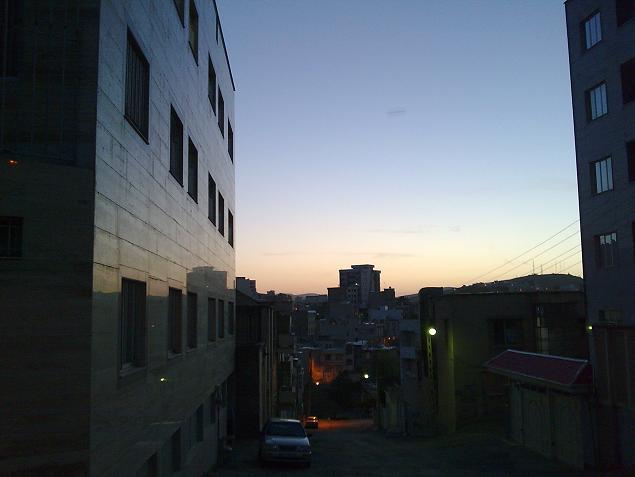 یکی از کوچه های خیابان دلگشا - شهر کرمانشاه